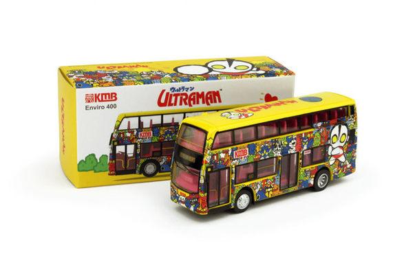 Poco+玩具部 全新 微影 TINY 香港合金車 限定 超人力霸王 香港雙層公車 巴士 和Tomica多美小車同比例