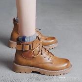 ann馬丁靴女英倫風新款百搭潮ins學生秋冬季女靴韓版帥氣短靴 歌莉婭