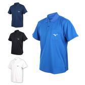 MIZUNO 男短袖POLO衫 (免運 短袖上衣 高爾夫 網球 美津濃≡體院≡ 32TA8015