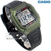 CASIO卡西歐 W-800HM-3A 兩地時間 10年電力 數位電子錶 男錶 學生錶 防水 綠色 W-800HM-3AVDF