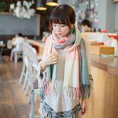 韓版 加厚款 方格 格子 圍巾 糖果色 百搭 秋冬必備 針織 5色 內搭 外套 毛帽 脖圍 【RS303】