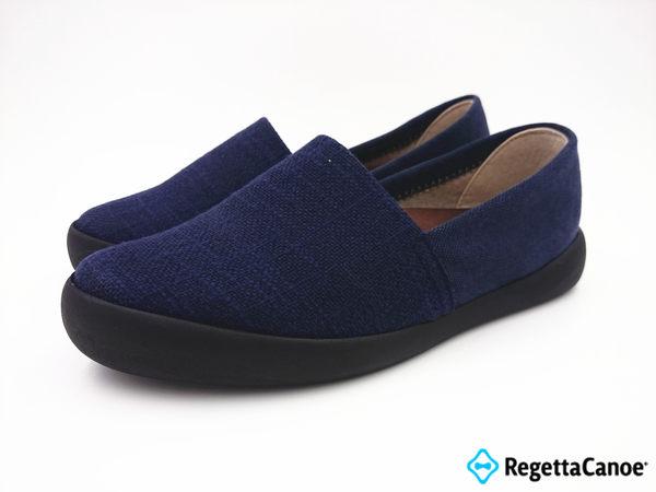 RegettaCanoe 女款 大阪日本原裝 高足弓樂步鞋 樂福鞋-藍0451