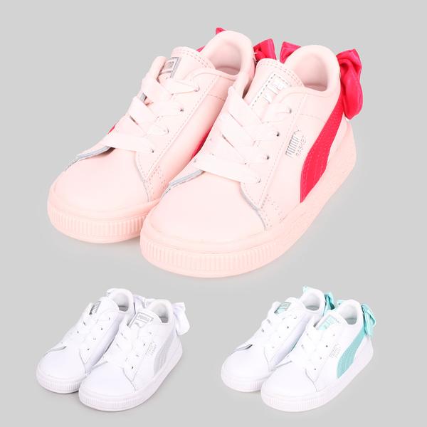 PUMA Basket Bow AC lnf 女兒童休閒運動鞋(蝴蝶結款)(慢跑≡體院≡ 367323