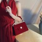 結婚包女新娘包包2021新款潮夏山茶花高級感婚禮紅色手提包珍珠包 黛尼時尚精品