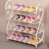 鞋架簡易家用多層簡約現代經濟型鐵藝宿舍拖鞋架子收納小鞋架鞋櫃 HM 范思蓮恩