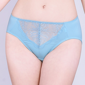 思薇爾-夏之戀人系列M-XXL蕾絲中腰三角內褲(礦水藍)