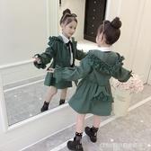 風衣外套 女童風衣外套新款韓版春秋中長款兒童秋季洋氣小女孩潮衣 童趣潮品