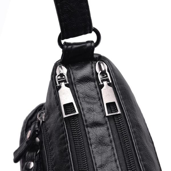斜挎包 中老年人女包包2021新款大容量單肩斜挎包女士背包中年媽媽軟皮包 夢藝