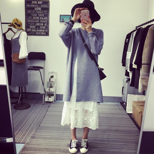 (全館一件免運)DE shop -蕾絲無袖吊帶修身顯瘦背心洋裝   (HL-958)