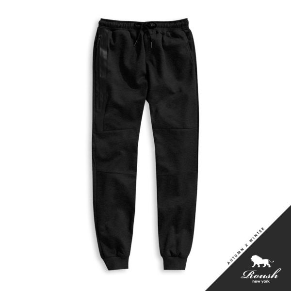 【Roush】 高磅數側邊防水拉鍊縮口棉褲 -【725690】