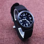 韓版撞色兒童帆布手錶男孩防水石英腕錶中小學生運動錶電子錶