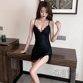 蕾絲吊帶裙女夏夜總店性 感低胸包臀開叉夜場上班衣服短款洋裝 衣櫥秘密