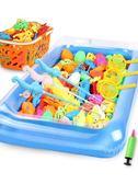 兒童磁性釣魚玩具池 女孩1-2一3周歲半寶寶益智力磁鐵竿戲水套裝【元氣少女】