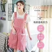 圍裙廚房做飯防水防油可愛日系圍腰工作女士時尚【匯美優品】