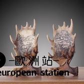 擺件/北歐美式家居裝飾品創意復古麋鹿角工藝品擺設【歐洲站】