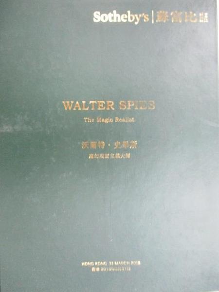 【書寶二手書T1/收藏_EA8】Sotheby s_Walter Spies-The Magic Realist_2018/3/31