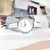 CK / K4E2N116 / 極簡風格 細緻迷人 不鏽鋼手環式指針腕錶 白x銀 30mm