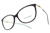 Tiffany&CO.眼鏡 TF2143B 8134 (琥珀棕-金) 浪漫魅力款 # 金橘眼鏡