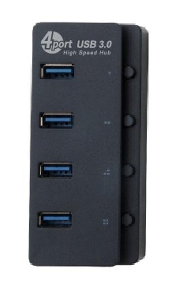 H5 USB HUB 4PORT 4埠USB3.0+TYPEC USB集線器1孔1開關