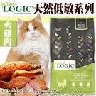 【培菓平價寵物網】美國Nature自然邏輯》貓糧火雞體質敏感配方1.49kg3.3磅/包 買3包送睡墊