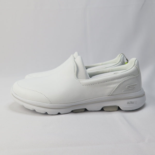 Skechers GO WALK - POLISHED 健走鞋 15923WHT 女款 全白皮革【iSport愛運動】