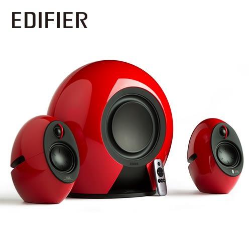EDIFIER 漫步者 e235 低音愛好者 2.1聲道 藍牙喇叭 烈焰紅