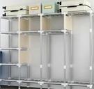衣柜簡易布衣柜出租房用加固