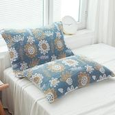 一對裝枕巾純棉全棉歐式枕頭巾五層加厚紗布【聚寶屋】