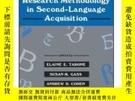 二手書博民逛書店Research罕見Methodology In Second-language AcquistionY255