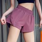 健身女孩寬鬆闊腿速干運動短褲防走光跑步訓練瑜伽褲外穿休閒熱褲