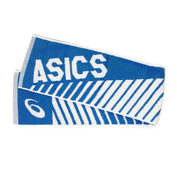 Asics Towel 22x110cm [Z32002-43] 長型 毛巾 慢跑 馬拉松 運動 親膚 吸水 藍白