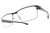 Ic! Berlin光學眼鏡 HANIA L. BLACK (霧黑) 紳士低調經典框 薄鋼眼鏡 # 金橘眼鏡