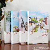 記事本 創意磁扣日記本彩頁韓國復古A5硬面線裝記事本女學生禮品本子文具  瑪麗蘇