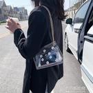 果凍錬條小包包女包新款時尚質感斜背包包個性洋氣單肩包潮【全館免運】