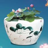 陶瓷魚缸養金魚缸烏龜缸睡蓮盆荷花缸客廳特魚缸碗蓮缸T