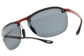 RayBan偏光太陽眼鏡RB4302M F62387 (紅黑-藍鏡片) 法拉利聯名車隊款 # 金橘眼鏡