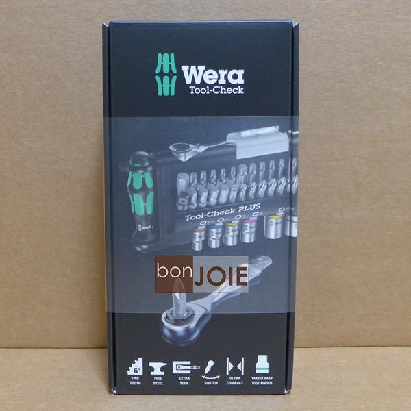 ::bonJOIE:: 德國 Wera Tool Check PLUS 迷你棘輪扳手套筒 39件組 捷克製 (全新盒裝) 兩分1/4 起子組 8001A
