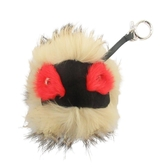 FENDI 紅黑淺棕三色小怪獸毛球吊飾 Bag Bugs Charm 【BRAND OFF】