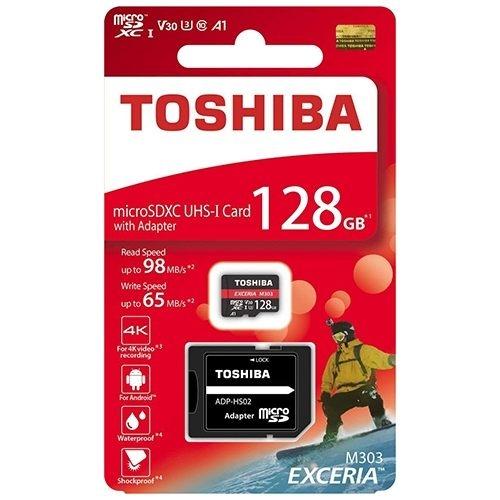 日本製 東芝 TOSHIBA EXCERIA M303 microsdxc 128GB 98mb/s U3 A1 V30 TF 富基公司貨 保固5年