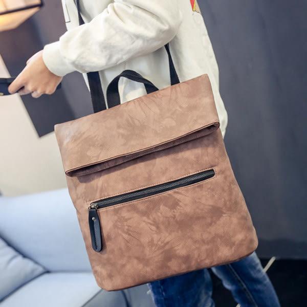 多功能包 新款韓版復古摺疊後背包 側背 斜背手提包-50691解脫  -寶來小舖Bolai-現貨販售
