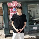 大碼情侶裝夏裝新款韓版個性不規則短款短袖T恤寬鬆上衣 Gg2213『優童屋』