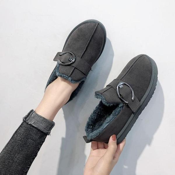 雪靴 雪地靴女新款冬季百搭韓版短筒短靴子平底面包鞋學生加絨棉鞋   魔法鞋櫃