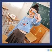 《KG1024》宇宙明星BT21放學趣字母短版上衣 OB嚴選