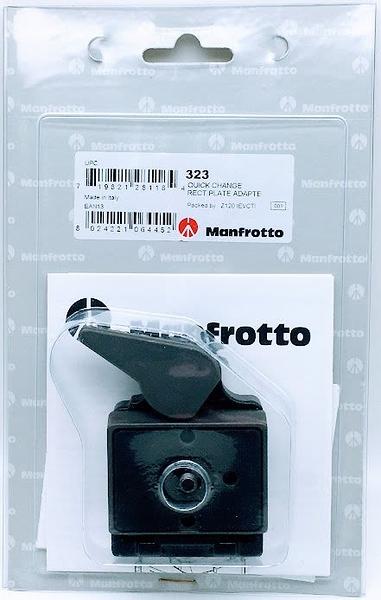 曼富圖 Manfrotto 323 快速接座 Quick Change Rectangular Plate Adapter, universal threads 正成公司貨