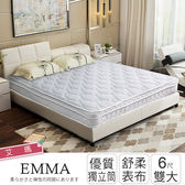 IHouse-艾瑪 親膚透氣舒柔三線獨立筒床墊-雙大6x6.2尺