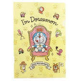 小禮堂 哆啦A夢 日製  A4資料夾 文件夾 檔案夾 L夾 (黃粉 50週年) 4905426-00972