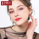 925銀針吊墜大氣耳環女 歐美韓國版夸張時尚氣質長款網紅耳夾