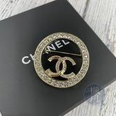 BRAND楓月 CHANEL 香奈兒 新款 2021年 雙C 鑲鑽 圓形胸針 別針