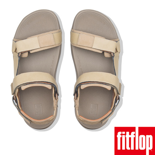 【FitFlop】RYKER BACL-STRAP SANDALS(卡其色)魔鬼氈可調整式後帶涼鞋