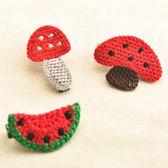 西瓜蘑菇布藝編織兒童髮夾 兒童髮飾 造型髮夾